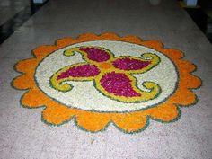 Latest Rice Rangoli Designs Images, Wallpaper, Video for This Diwali Indian Rangoli Designs, Simple Rangoli Designs Images, Beautiful Rangoli Designs, Kolam Designs, Easy Rangoli Patterns, Onam Pookalam Design, Rangoli Designs For Competition, Images Wallpaper, Diwali Rangoli
