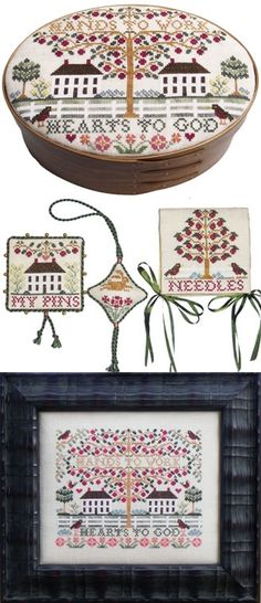 """""""Beauty In Simplicity"""" counted cross stitch design by Blue Ribbon Designs."""