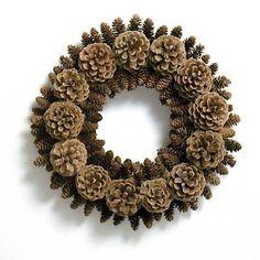 "Diy Pinecone Wreath Lovely Pin by Mihaela C ""Å' Adventski Vijenac Concept Of Diy Pinecone Wreath Nature Crafts, Fall Crafts, Holiday Crafts, Diy Crafts, Pine Cone Art, Pine Cone Crafts, Pine Cone Wreath, Pine Cone Decorations, Christmas Decorations"