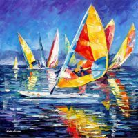 YELLOW YACHT by Leonid Afremov by Leonidafremov
