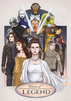 """not quite """"Legends""""..you know missing a few in that case...but still... Women of Star Wars *heart eyes*"""