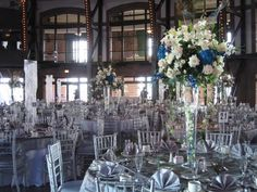 Blue and White Wedding Flower Ideas from M & P FLORAL AND EVENT PRODUCTION
