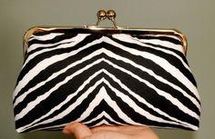 SALE Zebra Print XL Clutch by girlbyAileen on Etsy - StyleSays