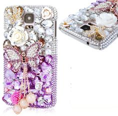 Galaxy S5 - Jeweled Butterfly Splendor Cases in Assorted Colors - Thumbnail 3