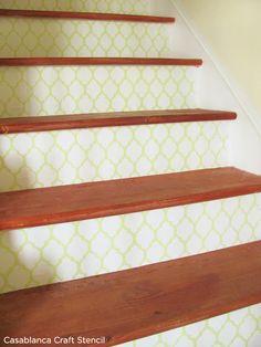 stair riser stencils - Google Search