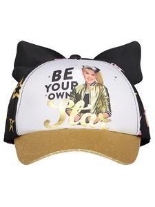 "Girl/'s JoJo Siwa /""Be Your Own Star/"" Black Baseball Cap Hat w//Silver Bow"