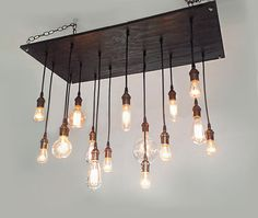 Rustic Chandelier: Industrial Lighting, Urban Chandelier, Modern Lighting, Industrial Chandelier. Reclaim Wood Chandelier