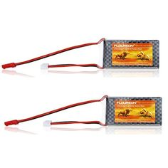 2 PCS Floureon 2S 20C Lipo RC Battery Packs 7.4V 1000mAh Lipo Battery with JST Connector for RC Helicopter RC Airplane RC Car/Truck/Boat/Receiver, RC Hobby(Grade A cells) Package including: 2 packs battery Type: Replacement Battery. Reachargeable: Yes. Chemistry: Li-Polymer Cells: 2S     Discharge: 20C