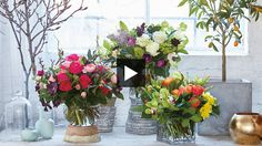 Learn how to build a bouquet like a florist using a mix of greenery and colorful flowers.