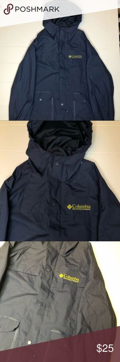 Youth Medium Columbia Rain Jacket Navy Lightly used but still in amazing condition with no holes or stains. Super nice quality and the fabric is durable. Open to offers! Columbia Blue, Columbia Jacket, Nike Jacket, Rain Jacket, Raincoats For Women, Fashion Tips, Fashion Design, Fashion Trends, Youth