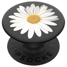PopSockets: PopGrip with Swappable Top for Phones & Tablets - White Daisy Cell Phone Grip, Phone Grip And Stand, Phone Cases, Phone Accesories, Cell Phone Accessories, Nintendo 3ds, Smartphone, Mobiles, Popsocket Design