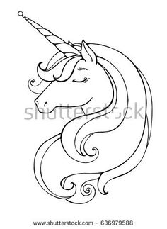 Unicorn Head Coloring Pages Getcoloringpages Org Party Unicorn