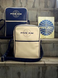 Pan Am Daily Traveler Series Shoulder Bag Color : Navy, White パンナム