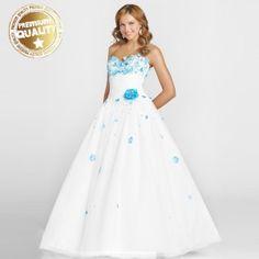 """""""Something blue, something old, something borrowed"""" wedding dress"""