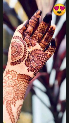 Khafif Mehndi Design, Henna Tattoo Designs Simple, Floral Henna Designs, Latest Bridal Mehndi Designs, Full Hand Mehndi Designs, Stylish Mehndi Designs, Henna Art Designs, Mehndi Designs For Girls, Mehndi Design Photos