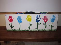 Celebrate the arrival of spring by making handprint flowers. Prepare the stems in advance of class, then have each child in your class add a handprint to decorate the classroom for spring!