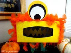 Fun tissue box monster craft for kids! Tissue Box Crafts, Tissue Boxes, Monster Box, Monster Party, Crafts To Do, Diy Crafts For Kids, Monster Theme Classroom, Diy Karton, Monster Crafts