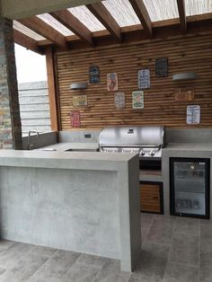 Outdoor Kitchen Ideas on a Budget (Affordable, Small, and DIY Outdoor Kitchen Id.Outdoor Kitchen Ideas on a Budget (Affordable, Small, and DIY Outdoor Kitchen Id. - Lockie Tarrant - Outdoor Kitchen Ideas on a Budget Outdoor Kitchen Countertops, Outdoor Kitchen Design, Outdoor Kitchens, Outdoor Spaces, Outdoor Cooking, Garden Furniture Design, Furniture Decor, Outdoor Furniture, Rustic Furniture