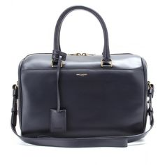 Saint Laurent Duffle 6 Leather Bowling Bag (16.460 NOK) ❤ liked on Polyvore