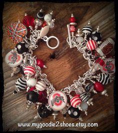 Ohio State Charm Bracelet, Ohio State, College Charm Bracelet, custom charm bracelet  on Etsy, $94.00