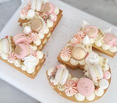 15th Birthday Cakes, Number Birthday Cakes, Number Cakes, Beautiful Birthday Cakes, Cake Decorating Videos, Birthday Cake Decorating, Macaron Cake, Cupcake Cakes, Fancy Cakes
