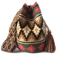 Rio Double Thread Wayuu bag Tapestry Crochet Patterns, Ethnic Bag, Make Do And Mend, Tapestry Bag, Art Bag, Afghan Blanket, Yarn Needle, Crochet Projects, Purses And Bags