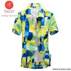 Men s Apparel Shirt. 2016 Tropical Hawaiian Shirts Full Floral Men s Short  Sleeve Casual Beach Party Tops Fast Drying Asian Size L-4Xl 79fe53452dc8