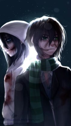 Jeff and Liu. I THINK OF THEM A BROTHERS NOT A FING SHIP IF YOU SHIP THEM THEN YOU ARE STUPID THEY ARE BROTHERS.