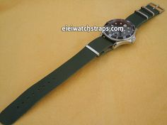 NATO Green Leather Watch Strap For Omega Seamaster & Omega Planet Planet Ocean Watches
