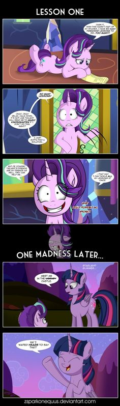 Comic 77: Lesson One by ZSparkonequus.deviantart.com on @DeviantArt