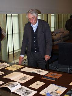 Wim Crouwel at the Wim Crouwel Institute