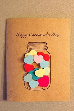 Making Valentine's Day cards is easy with these DIY … – love Making Valentine's Day cards is easy with these DIY …- Zum Valentinstag Karten basteln geht lei Easy Diy Valentine's Day Cards, Valentine's Day Diy, Diy Gift Cards, Diy Valentines Cards, Valentine Day Crafts, Valentines Hearts, Homemade Valentine Cards, Best Valentines Day Ideas, Valentine Theme
