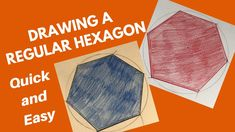 In this video we show a very simple way to create a regular hexagon. The only things you need are a compass and a ruler/straight edge. Two Dimensional Shapes, Math Work, Hexagons, Simple Way, Geometry, Make It Yourself, Drawings, Crafts, Manualidades