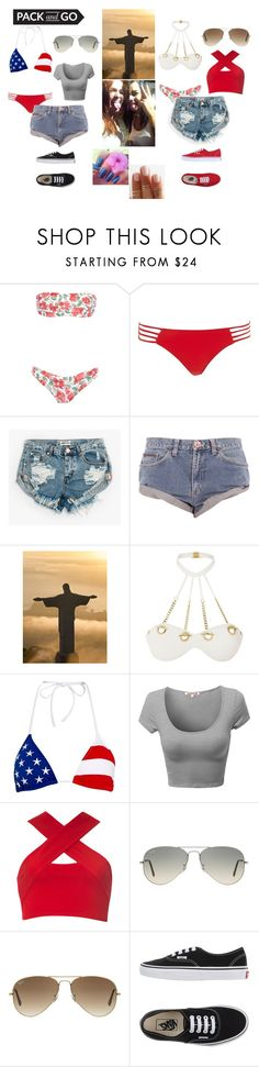 """ErreJota."" by annacastrolima ❤ liked on Polyvore featuring George J. Love, River Island, OneTeaspoon, Agent Provocateur, Polo Ralph Lauren, Motel, Ray-Ban, Vans, friends and riodejaneiro"