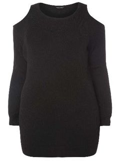 Dorothy Perkins Womens DP Curve Plus Size Black Longline Cold Black longline relaxed fit jumper with cold shoulder detailing and scooped neckline. Wearing l 30% Polyester,29% Nylon,21% Viscose,20% Cotton. Machine washable. http://www.MightGet.com/january-2017-13/dorothy-perkins-womens-dp-curve-plus-size-black-longline-cold.asp