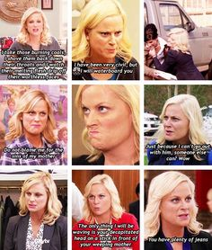 Parks and Recreation-- Angry Leslie Knope.