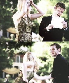 klaroline, this is one of my absolute favorite Klaroline scenes, Klaus is sooooo hot when he laughs!