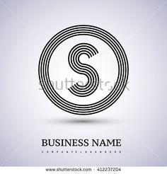 S Letter logo in a circle. black colored. Logo vector design template elements  for company identity. - stock vector