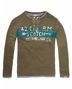 Double Layer Granddad With Leather Elbows > Kids Clothing > Boys > T-shirts at Scotch Shrunk - Official Scotch & Soda Online Fashion & Apparel Shops