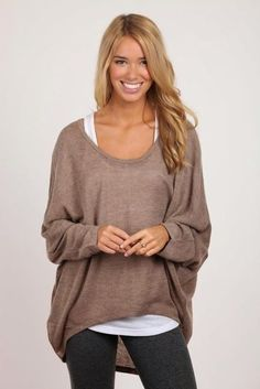 I'd wear the sweater in the Fall, and wear a tank top with these shorts in the Summer!!