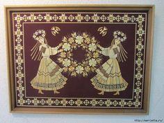 Изумительные работы из соломки (49) (700x525, 324Kb) Straw Art, Paper Quilling Designs, Paper Cutting, Diy Crafts, Quilts, Rugs, Costume, Frame, Wood