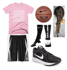 """Basketball tryouts next week"" by carlasaenz ❤ liked on Polyvore featuring NIKE"