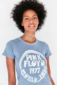 The perfect band tee to rock with a pair of vintage Levis jeans. We love this Pink Floyd tshirt with graphics from their '77 world tour.