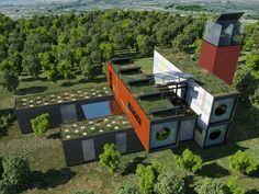 casa contenedor bioclimatica