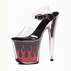 ... Hot 8 inch sexy clear Gorgeous High Heels flame platform crystal shoes 20cm women 2016 Exotic ...