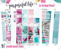 Purpose Weekly Kit // Happy Planner // Printable Planner Stickers // Cut Line Files // Silhouette // Planner Printable by BEaYOUtifulPlanning on Etsy