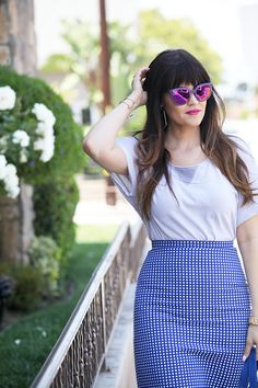 Polka Dot Skirt and Breaking Out of a Style Rut - Glam Latte