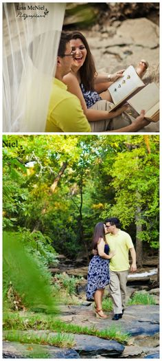 photography inspiration for engagement pictures, lake, books, reading, Texas,