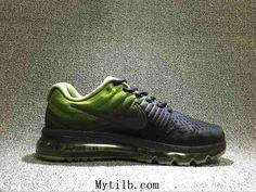 Nike Air Max 2017 Mesh Gradient Green Black Men Running Shoes