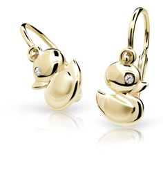 Detské náušnice so zirkónmi Cutie Jewellery - ELBEZA. White Gold Jewelry, Diamond Jewelry, Diamond Earrings, Skull Wedding Ring, Gold Wedding Rings, Kids Jewelry, Summer Collection, Baby, Jewellery